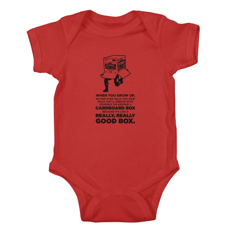 Adulting with Boxes Kids Baby Bodysuit by The Yellowrant Artist Shop