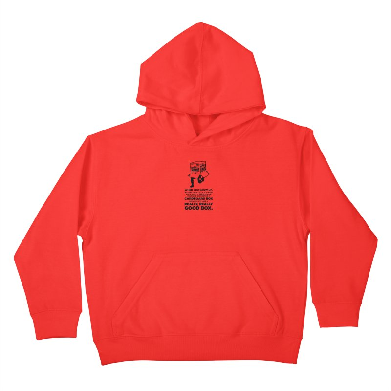 Adulting with Boxes Kids Pullover Hoody by The Yellowrant Artist Shop