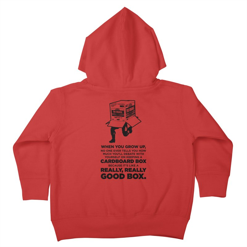 Adulting with Boxes Kids Toddler Zip-Up Hoody by The Yellowrant Artist Shop