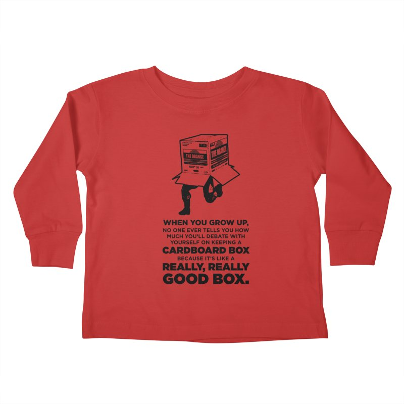 Adulting with Boxes Kids Toddler Longsleeve T-Shirt by The Yellowrant Artist Shop