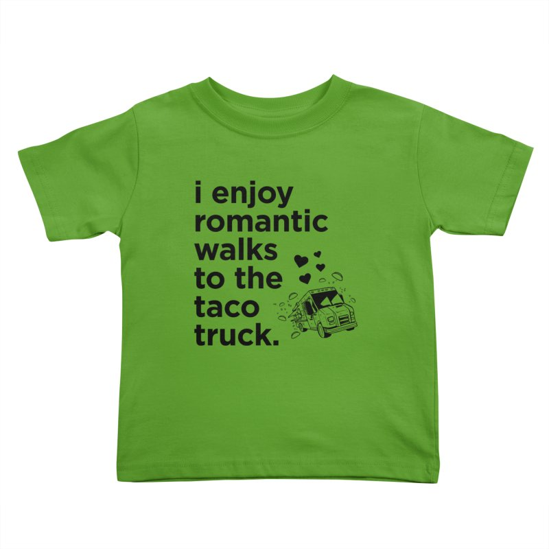 Taco Love (black) Kids Toddler T-Shirt by The Yellowrant Artist Shop