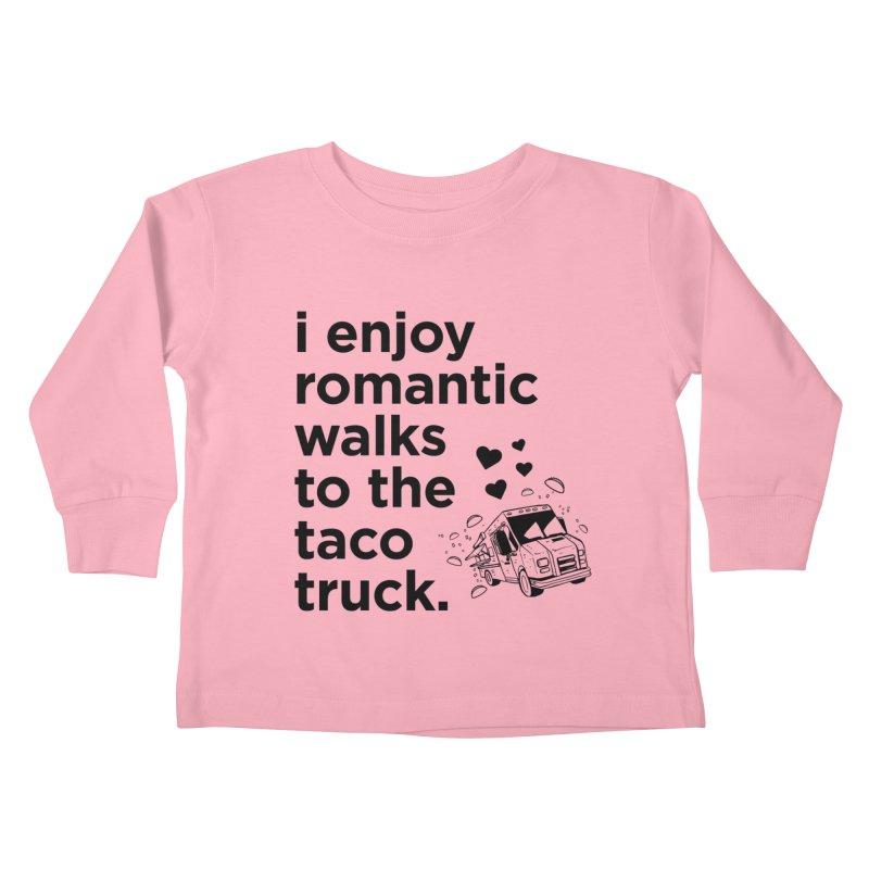 Taco Love (black) Kids Toddler Longsleeve T-Shirt by The Yellowrant Artist Shop