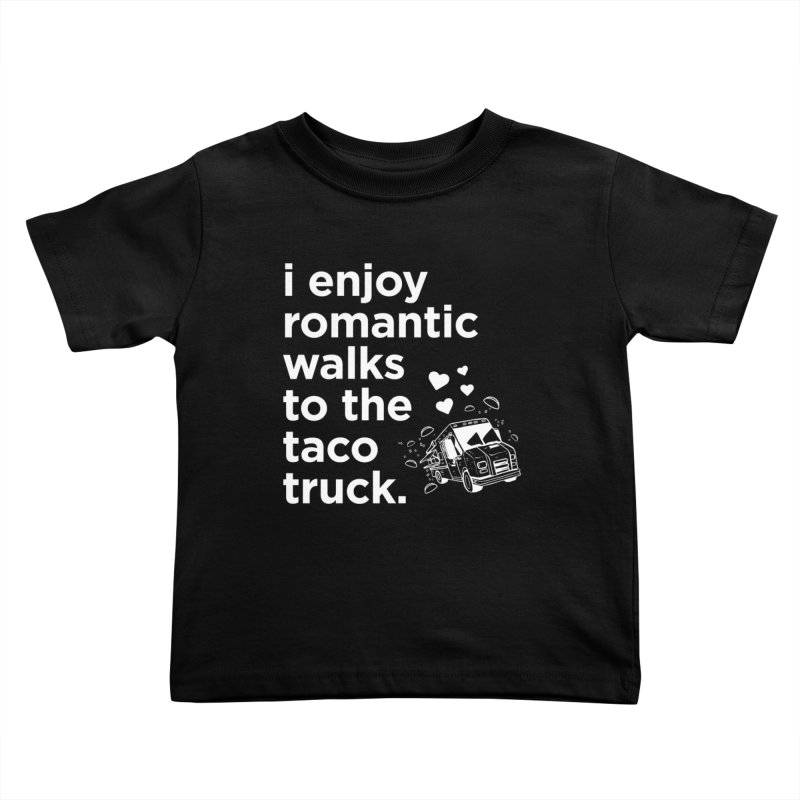 Taco Love (white) Kids Toddler T-Shirt by The Yellowrant Artist Shop