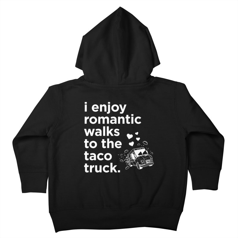 Taco Love (white) Kids Toddler Zip-Up Hoody by The Yellowrant Artist Shop