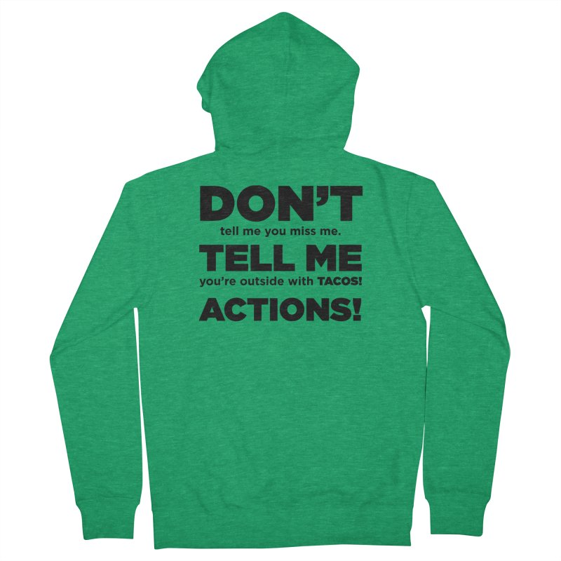 Don't Tell Me (black) Women's Zip-Up Hoody by The Yellowrant Artist Shop