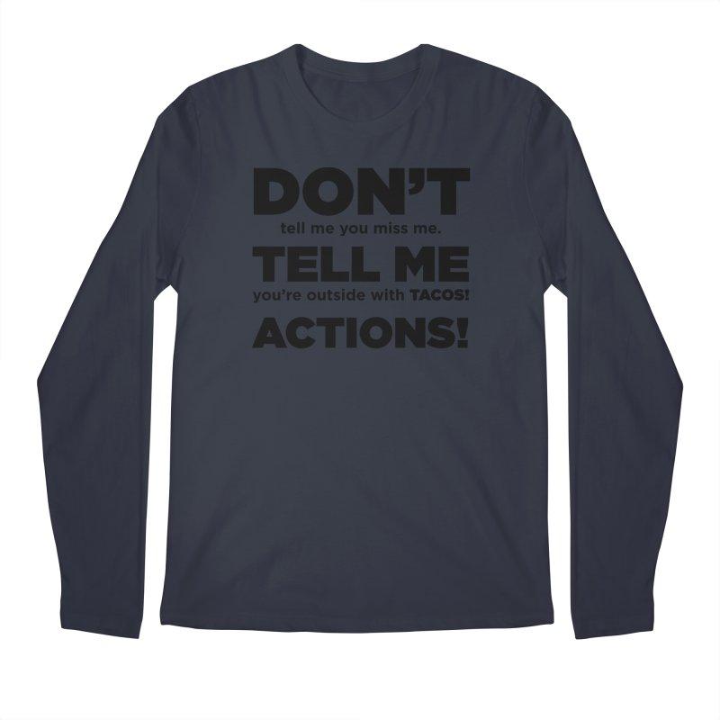 Don't Tell Me (black) Men's Longsleeve T-Shirt by The Yellowrant Artist Shop