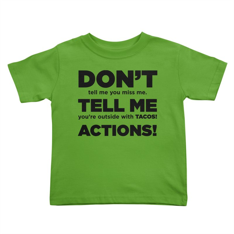 Don't Tell Me (black) Kids Toddler T-Shirt by The Yellowrant Artist Shop