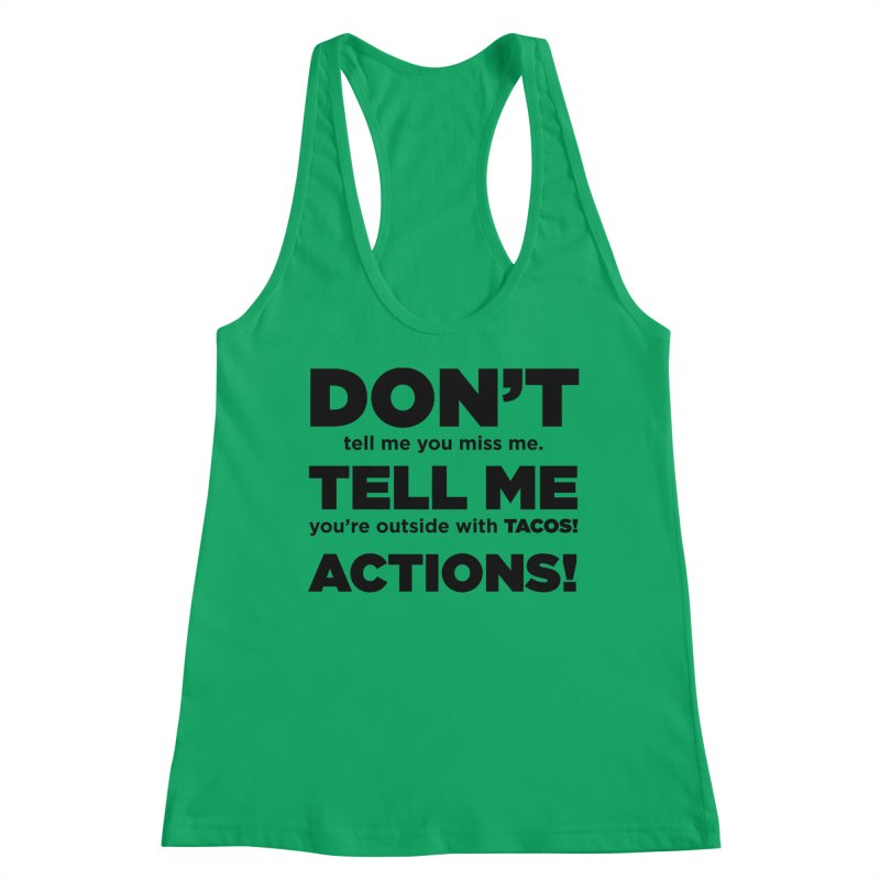 Don't Tell Me (black) Women's Tank by The Yellowrant Artist Shop