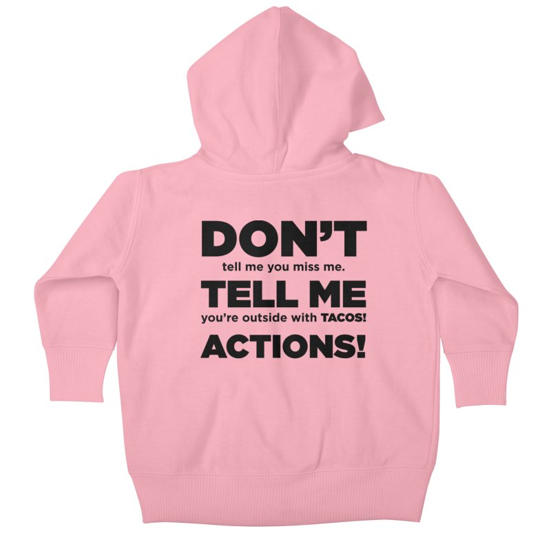 Don't Tell Me (black) Kids Baby Zip-Up Hoody by The Yellowrant Artist Shop