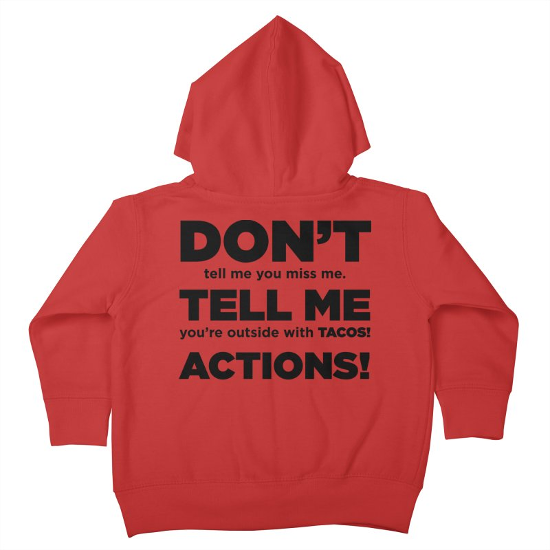 Don't Tell Me (black) Kids Toddler Zip-Up Hoody by The Yellowrant Artist Shop