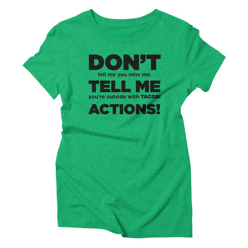 Don't Tell Me (black) Women's T-Shirt by The Yellowrant Artist Shop