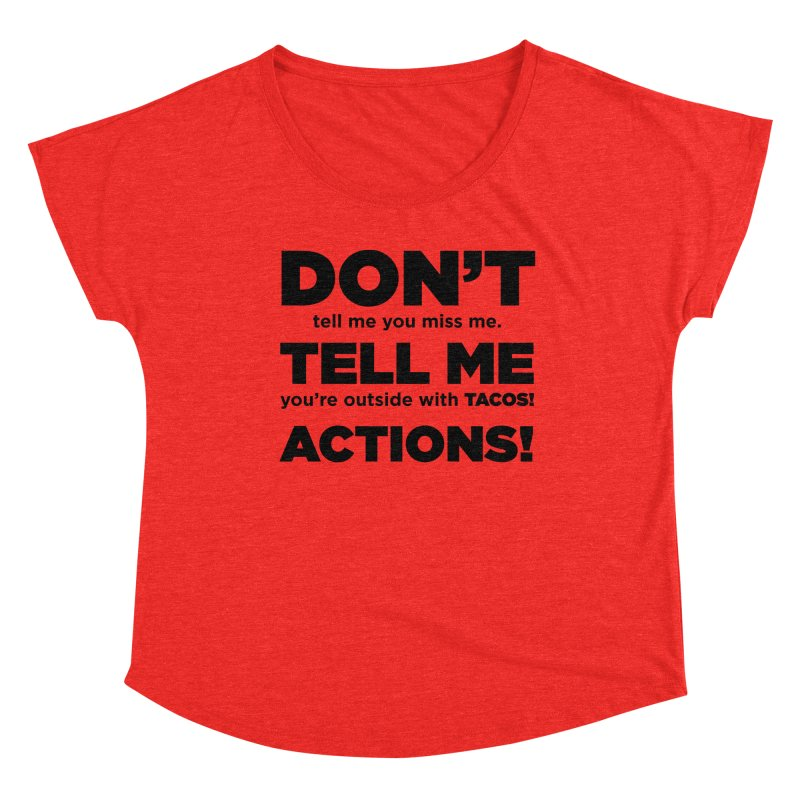 Don't Tell Me (black) Women's Scoop Neck by The Yellowrant Artist Shop