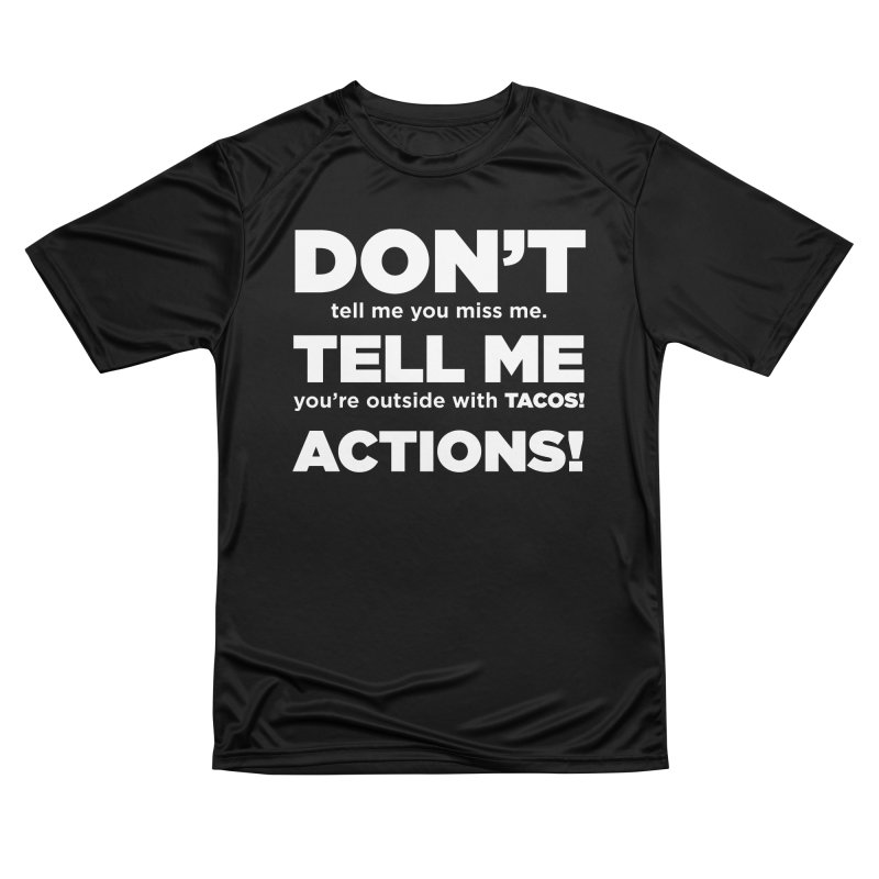 Don't Tell Me (white) Women's T-Shirt by The Yellowrant Artist Shop