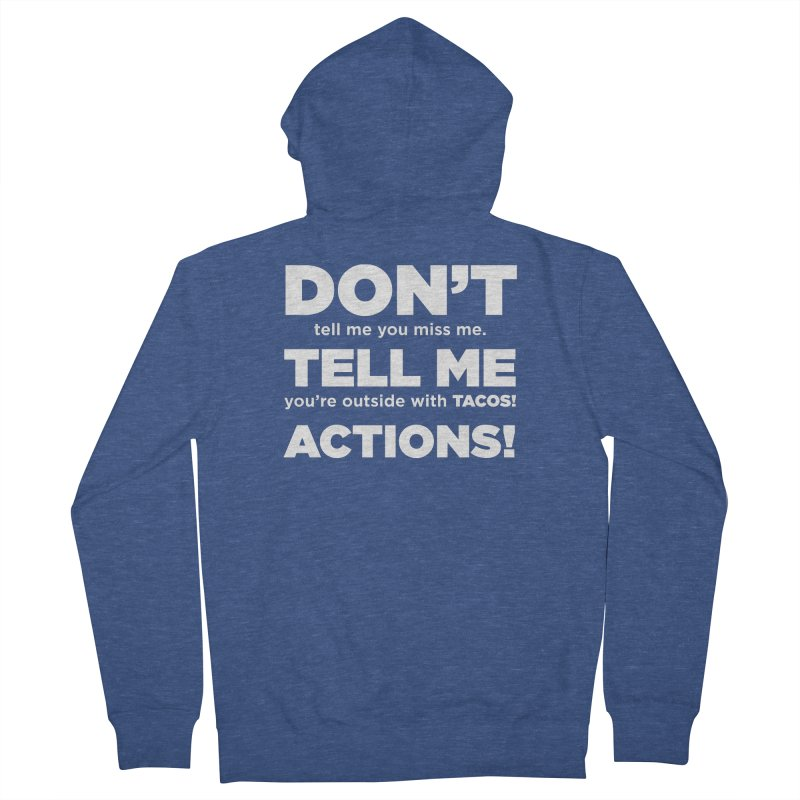 Don't Tell Me (white) Men's Zip-Up Hoody by The Yellowrant Artist Shop