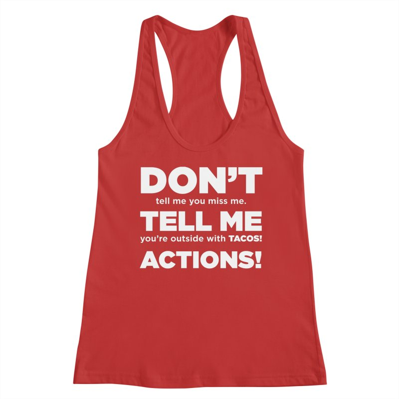 Don't Tell Me (white) Women's Tank by The Yellowrant Artist Shop