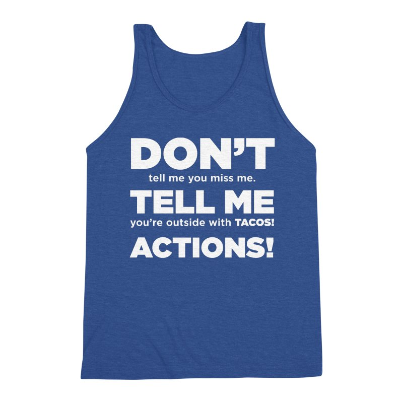 Don't Tell Me (white) Men's Tank by The Yellowrant Artist Shop