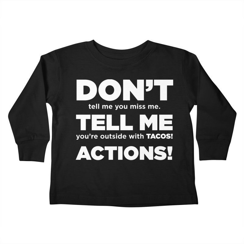 Don't Tell Me (white) Kids Toddler Longsleeve T-Shirt by The Yellowrant Artist Shop