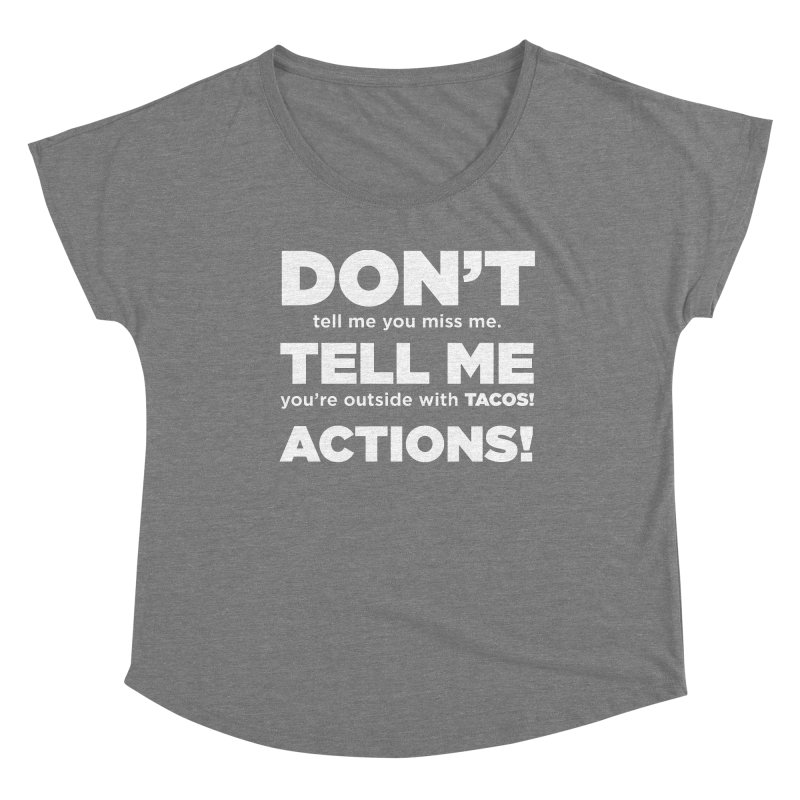 Don't Tell Me (white) Women's Scoop Neck by The Yellowrant Artist Shop