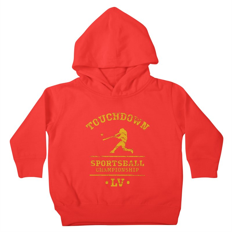 Sportsball Kids Toddler Pullover Hoody by The Yellowrant Artist Shop