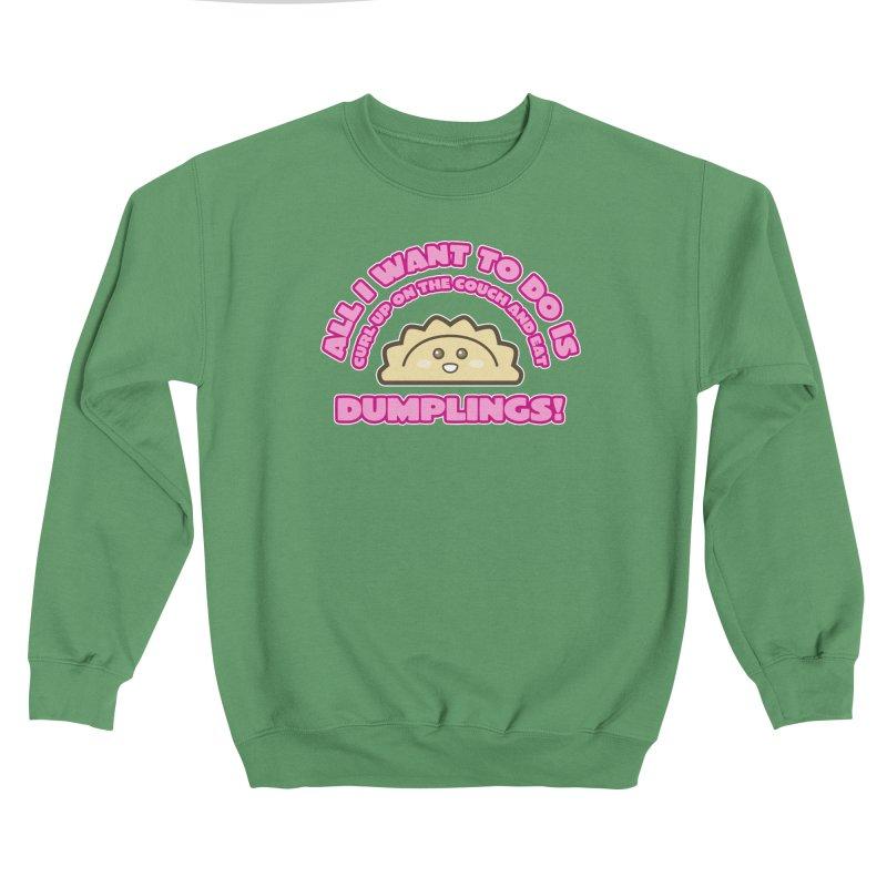 Dumpling Curl Women's Sweatshirt by The Yellowrant Artist Shop