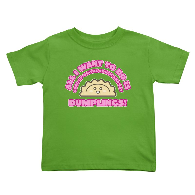 Dumpling Curl Kids Toddler T-Shirt by The Yellowrant Artist Shop