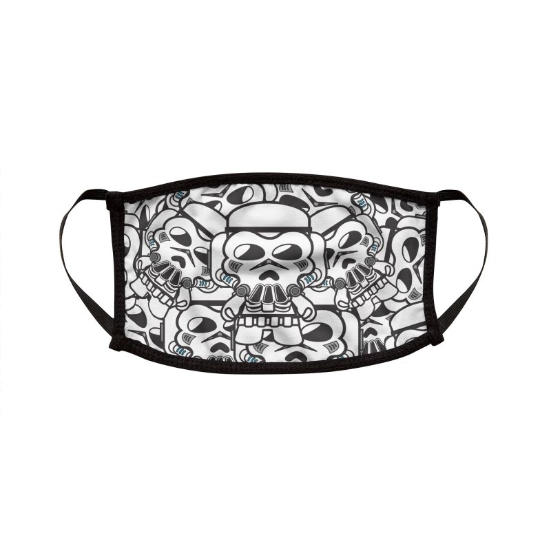 The Skulltrooper (OG) Accessories Face Mask by The Yellowrant Artist Shop