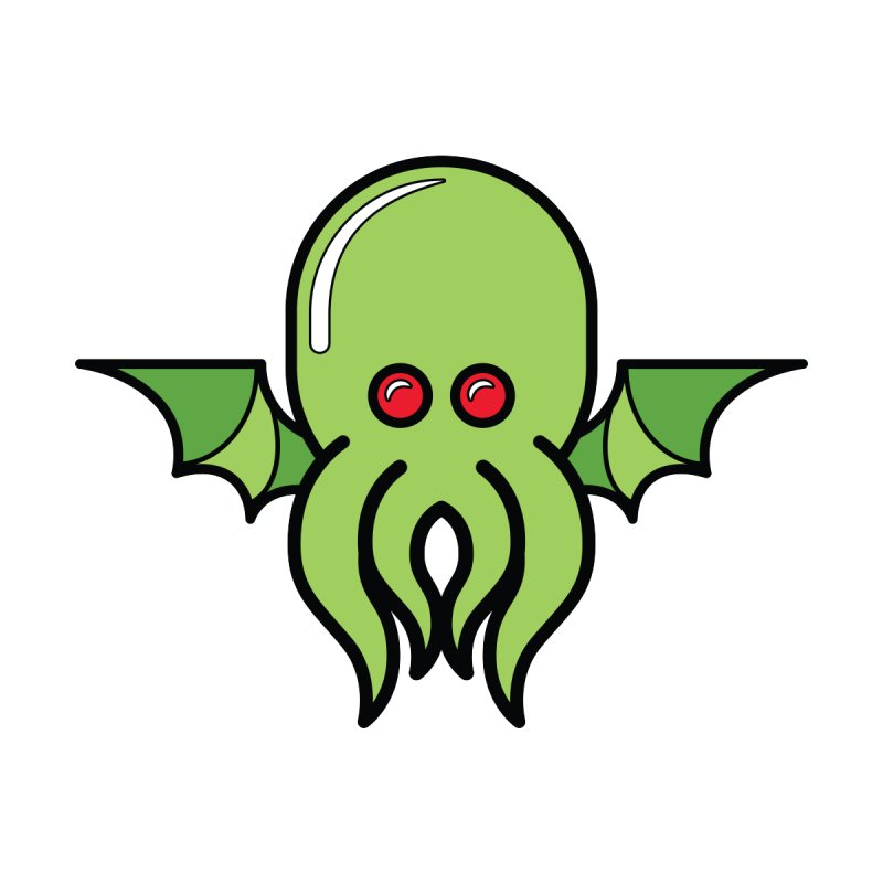 ALL PRAISE CTHULU! Accessories Sticker by The Yellowrant Artist Shop