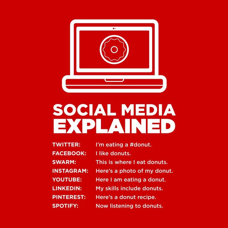 Social Media Explained Men's T-Shirt by The Yellowrant Artist Shop