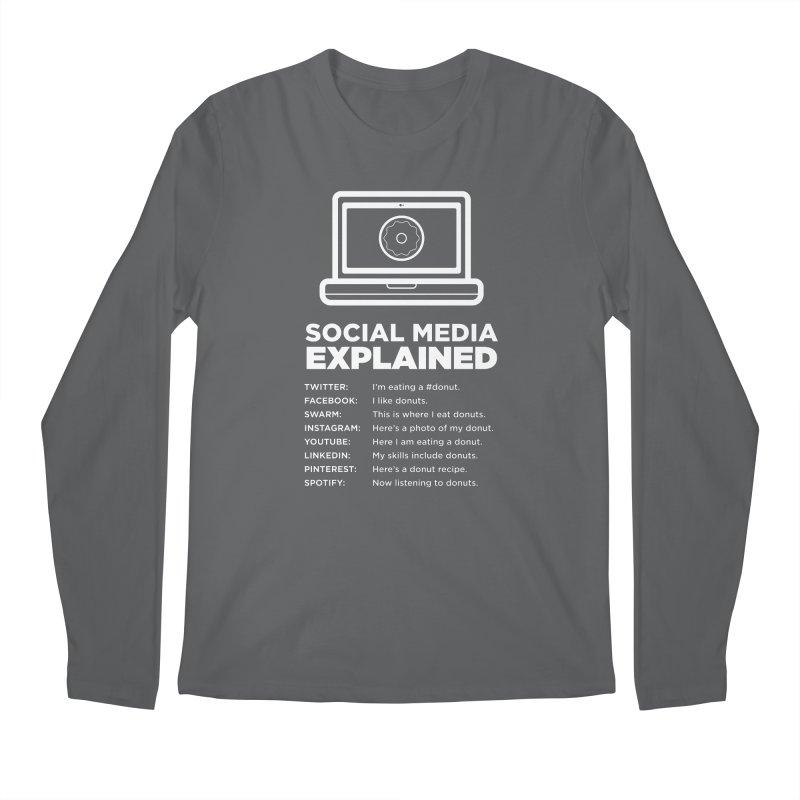 Social Media Explained Men's Longsleeve T-Shirt by The Yellowrant Artist Shop