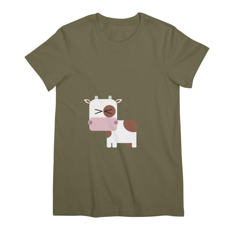Little cow Women's Premium T-Shirt by Yellow Studio · the Shop!