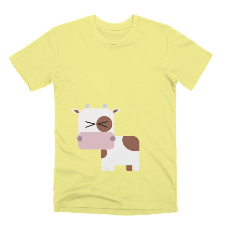 Little cow Men's Premium T-Shirt by Yellow Studio · the Shop!