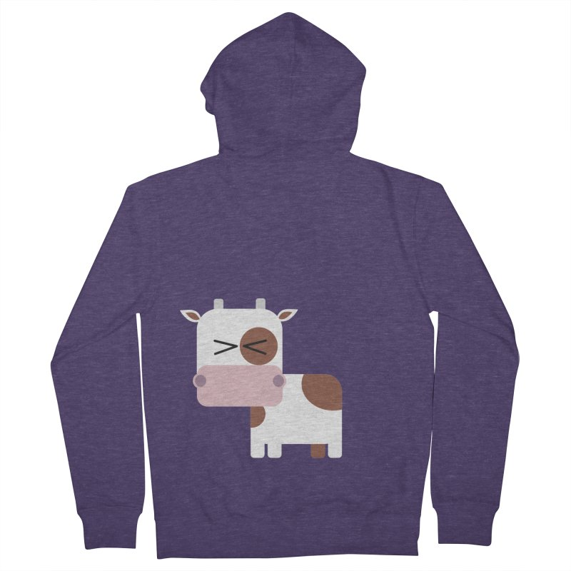 Little cow Men's French Terry Zip-Up Hoody by Yellow Studio · the Shop!