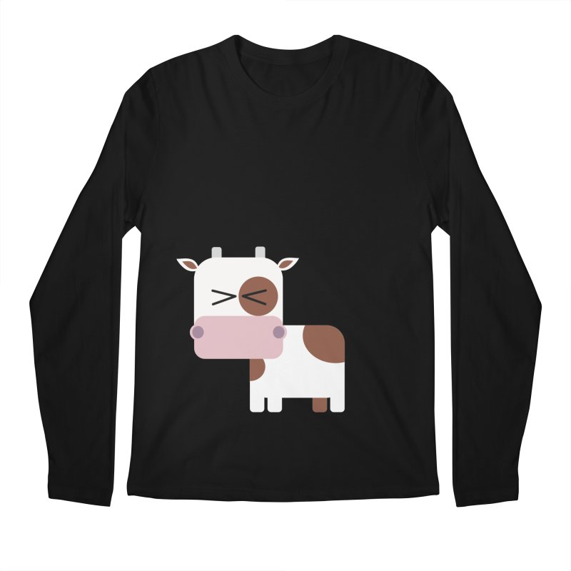 Little cow Men's Regular Longsleeve T-Shirt by Yellow Studio · the Shop!