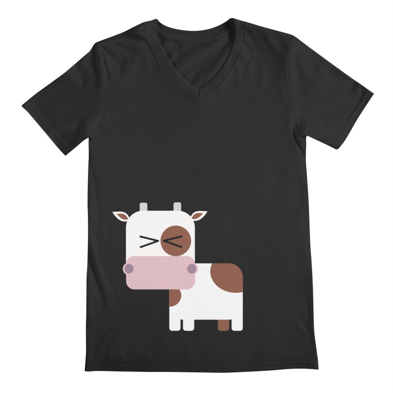 Little cow Men's Regular V-Neck by Yellow Studio · the Shop!