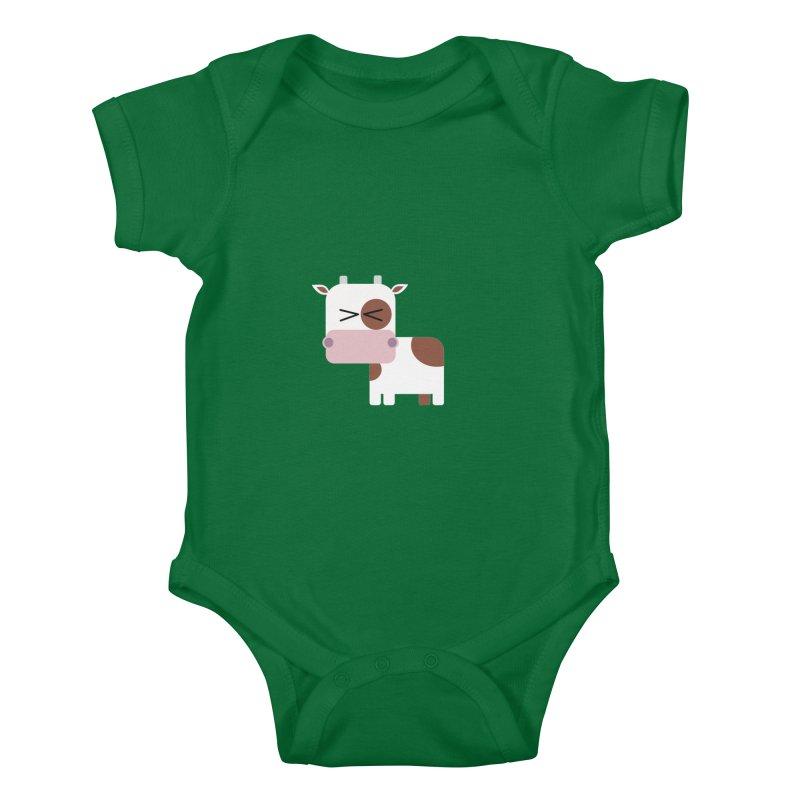 Little cow Kids Baby Bodysuit by Yellow Studio · the Shop!