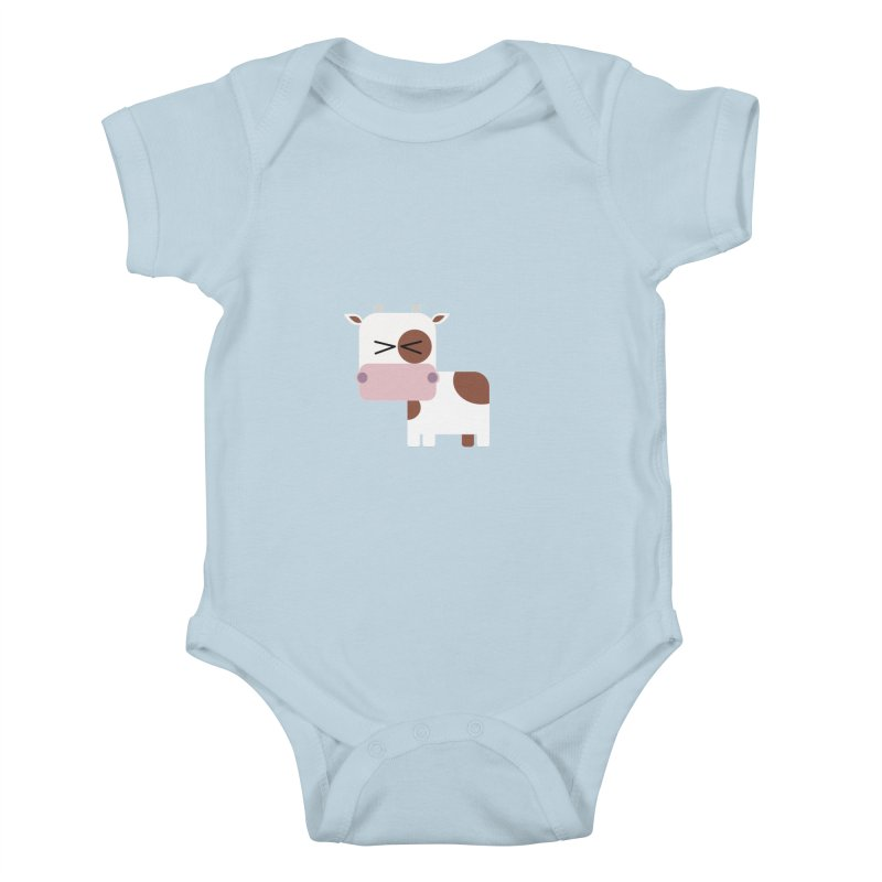 Little cow Kids Baby Bodysuit by Yellow Studio · the Shop!