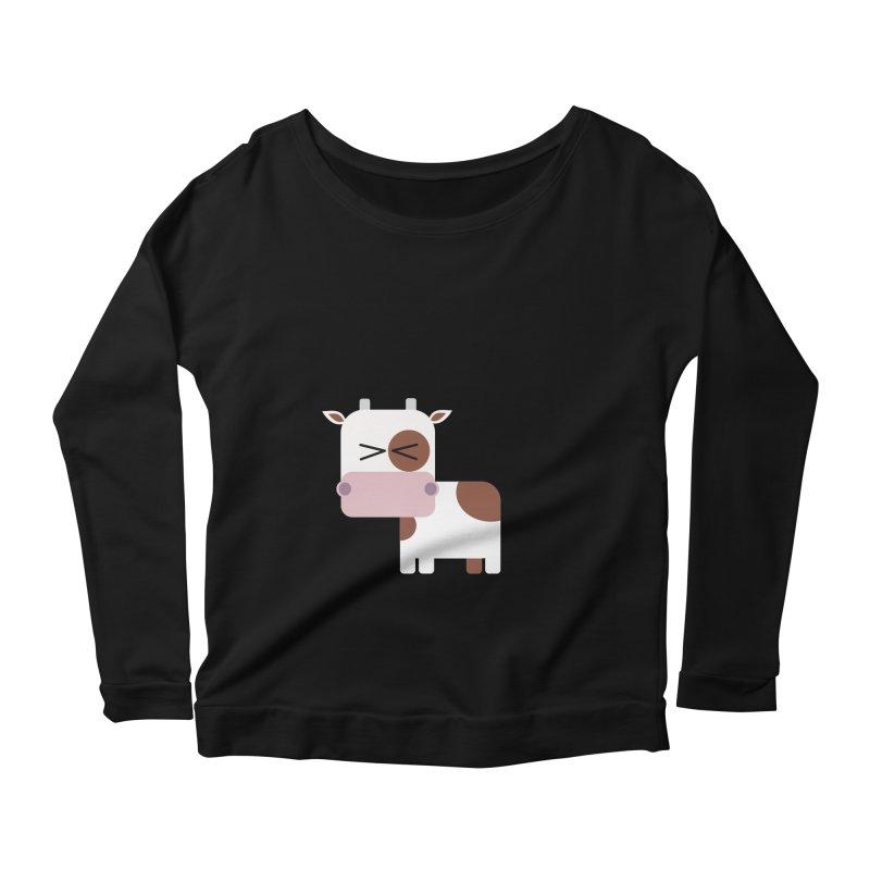 Little cow Women's Scoop Neck Longsleeve T-Shirt by Yellow Studio · the Shop!