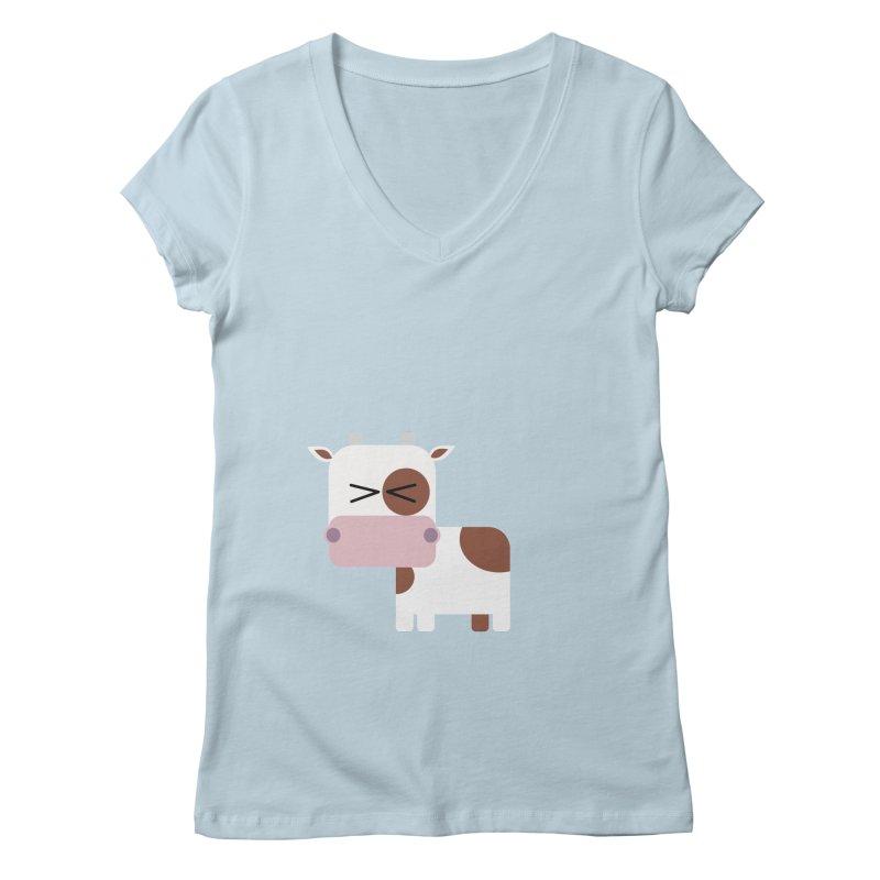 Little cow Women's Regular V-Neck by Yellow Studio · the Shop!