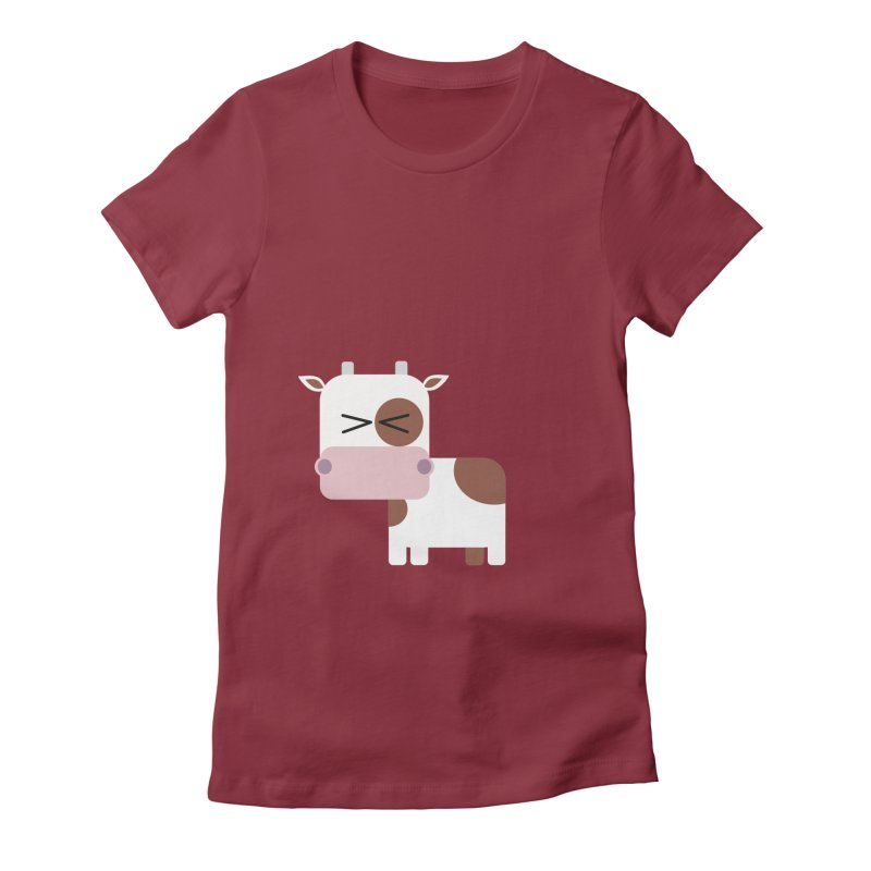 Little cow Women's Fitted T-Shirt by Yellow Studio · the Shop!