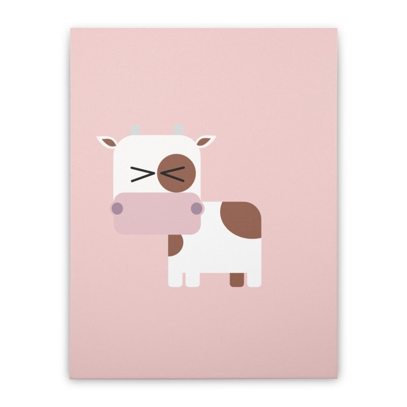 Little cow Home Stretched Canvas by Yellow Studio · the Shop!