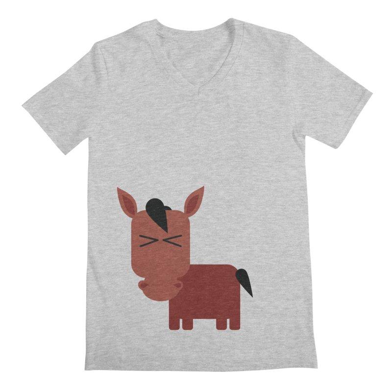 Little horse Men's Regular V-Neck by Yellow Studio · the Shop!