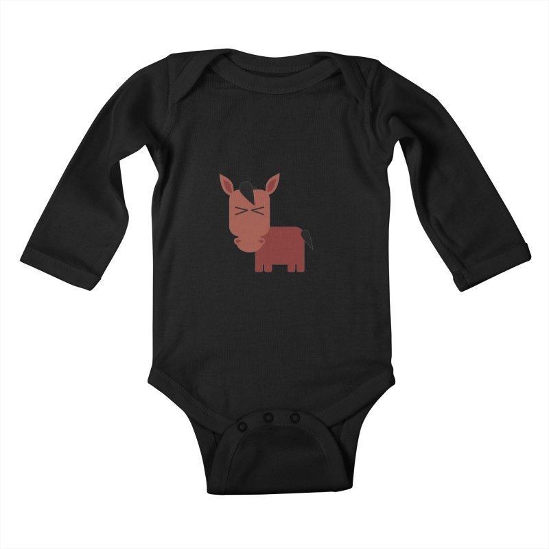 Little horse Kids Baby Longsleeve Bodysuit by Yellow Studio · the Shop!
