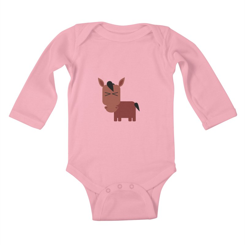 Little horse Kids Baby Longsleeve Bodysuit by Yellow Studio · the Shop!