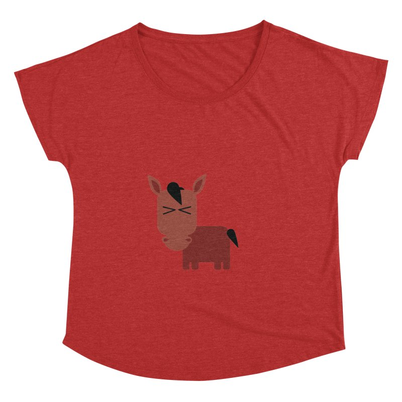 Little horse Women's Dolman Scoop Neck by Yellow Studio · the Shop!