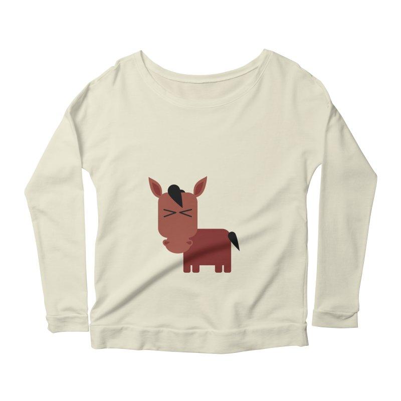 Little horse Women's Scoop Neck Longsleeve T-Shirt by Yellow Studio · the Shop!