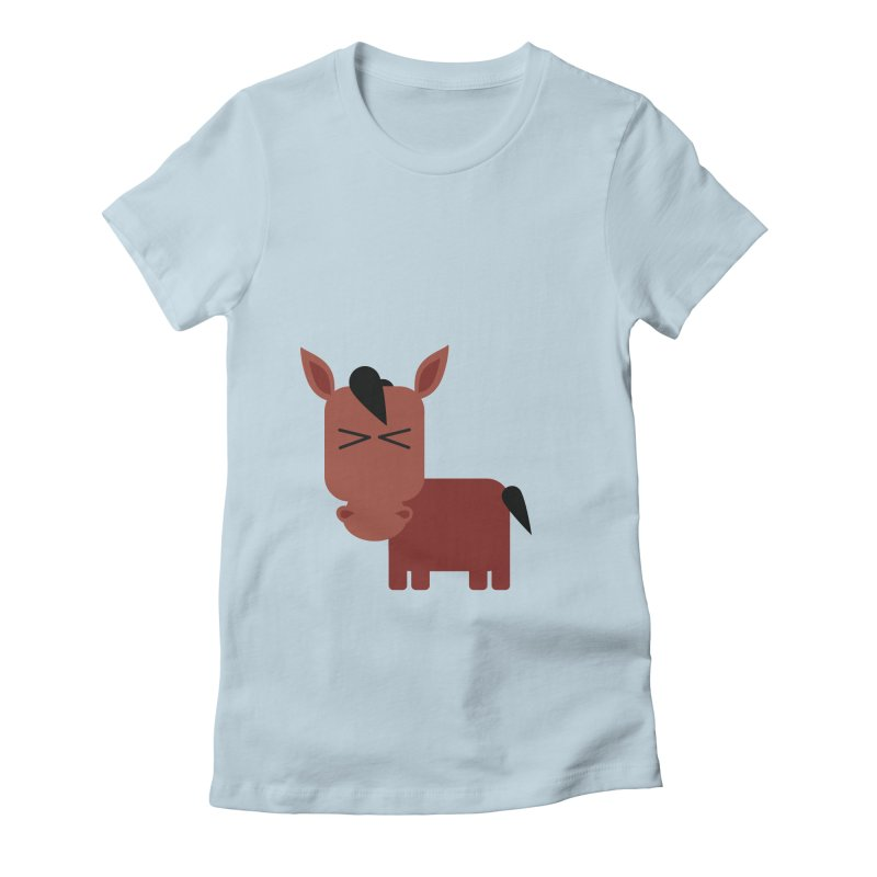 Little horse Women's Fitted T-Shirt by Yellow Studio · the Shop!