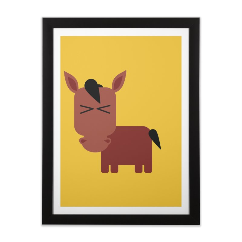 Little horse Home Framed Fine Art Print by Yellow Studio · the Shop!