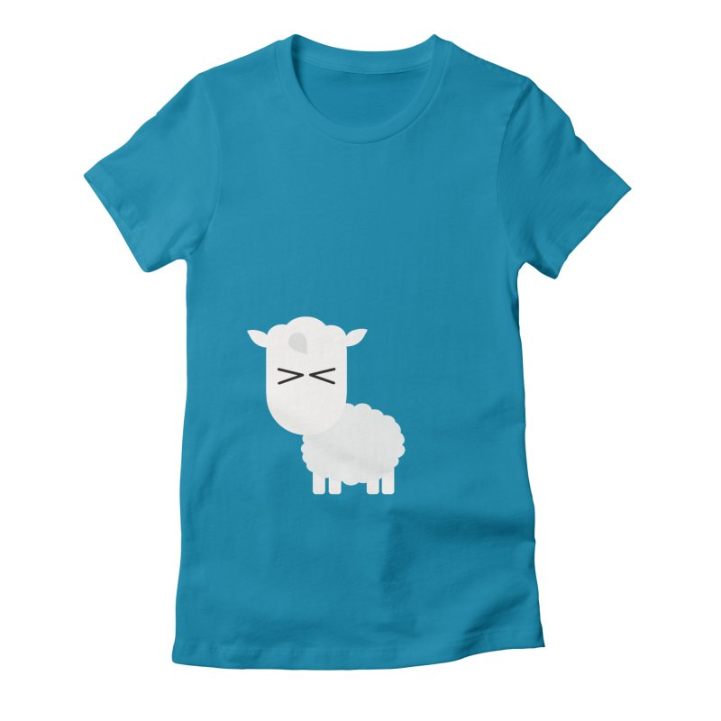 Little lamb Women's Fitted T-Shirt by Yellow Studio · the Shop!