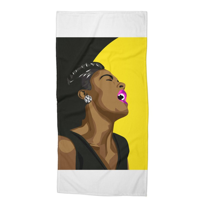 Lady Day Accessories Beach Towel by Yellow Studio · the Shop!