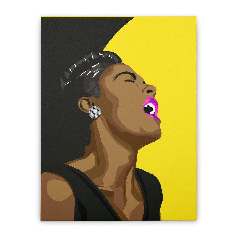Lady Day Home Stretched Canvas by Yellow Studio · the Shop!